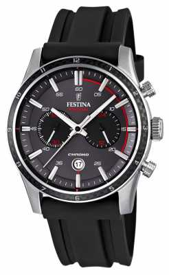Festina Mens Tour Of Britain 2015 Black Rubber Strap F16874/H