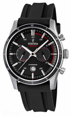 Festina Mens Tour Of Britain 2015 Black Rubber Strap F16874/I