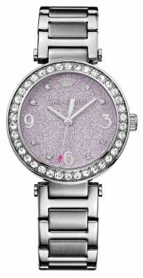 Juicy Couture Womens Cali Stainless Steel Pink Glitter Dial 1901327