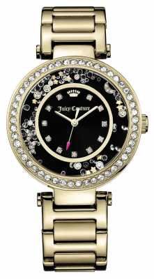 Juicy Couture Womens Cali PVD Plated Black Dial 1901331
