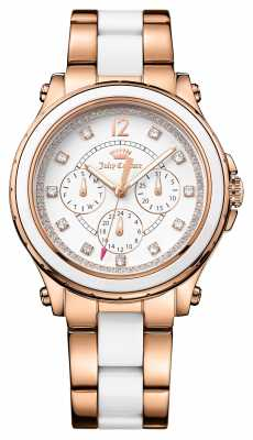 Juicy Couture Womens Hollywood PVD Plated White CeramicHollywood 1901303