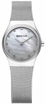 Bering Womens Stainless Steel Mesh Stone Set 12924-000