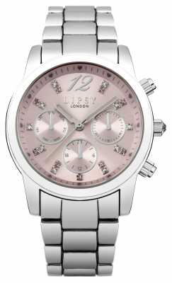 Lipsy Womens Stainless Steel Bracelet Pink Dial LP390