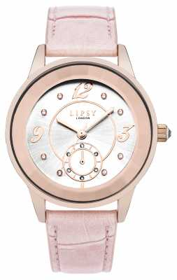 Lipsy Womens Pink Strap White Sunray Dial LP374