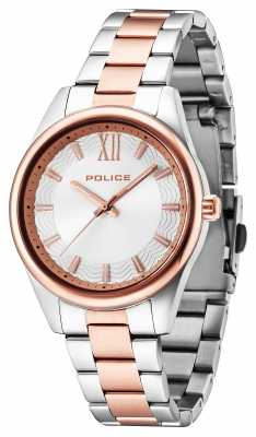 Police Mens Elegance Two Tone Silver Dial 14493MSTR/04M