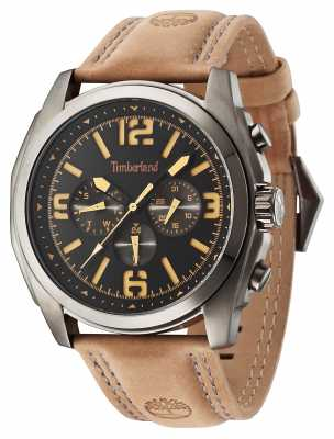 Timberland Brattleboro Brown Leather Strap Black Dial 14366JSU/02