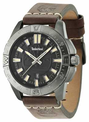 Timberland Mens Litchfield Brown Leather Strap Black Di 14532JSU/02