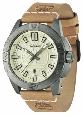 Timberland Mens Litchfield Brown Leather Beige Dial 14532JSU/07