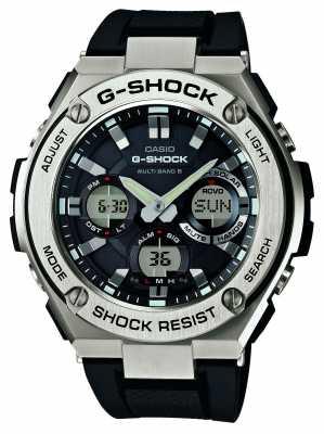 Casio Mens G-Shock Silver / Black, Radio Control GST-W110-1AER