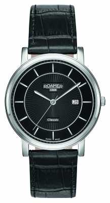 Roamer Mens Classic Line Black Leather Strap 709856415707