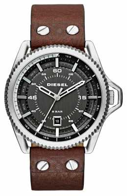 Diesel Mens Rollcage Brown Leather Strap DZ1716