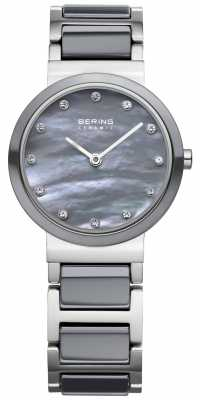 Bering Womens Stainless Steel Grey Ceramic 10725-789
