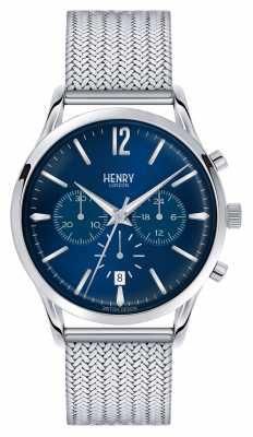 Henry London Knightsbridge Stainless Steel Mesh Chrono HL41-CM-0037