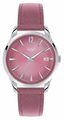 Henry London Hammersmith Pink Leather Strap Pink Dial HL39-S-0061