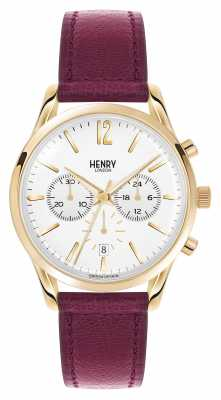 Henry London Holborn Deep Red Leather Strap Chrono HL39-CS-0070