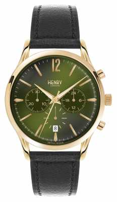 Henry London Chiswick Black Leather Strap Chronograph HL41-CS-0106