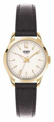 Henry London Westminster Brown Leather Strap Champagne HL25-S-0002