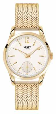 Henry London Westminster Gold Plated Mesh Champagne Dial HL30-UM-0004