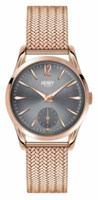 Henry London Finchley Rose Gold Mesh Grey Dial HL30-UM-0116