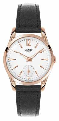 Henry London Richmond Black Leather Strap White Dial HL30-US-0024