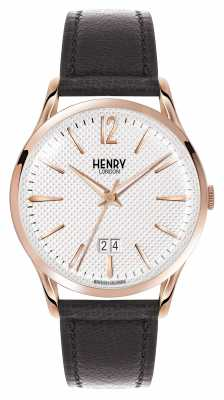 Henry London Richmond Black Leather Strap White Dial HL41-JS-0038