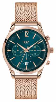 Henry London Stratford Rose Gold Plated Mesh Chronograph HL39-CM-0142