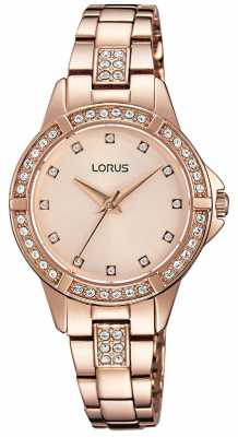 Lorus Womens Rose Gold Plated Rose Gold Dial RG270KX9