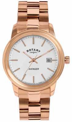 Rotary Ladies Rose Gold Avenger LB02739/06