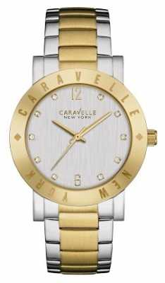 Caravelle New York Two Tone Boyfriend Watch 45L151