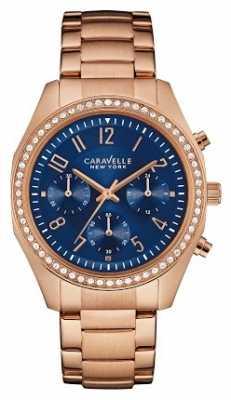 Caravelle New York Ladies Melissa Chronograph Watch 44L196