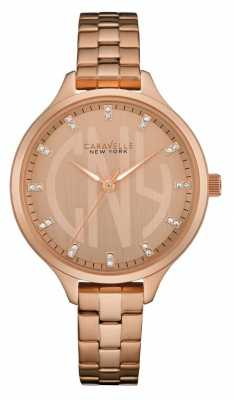 Caravelle New York Ladies Round Slim Watch 44L207