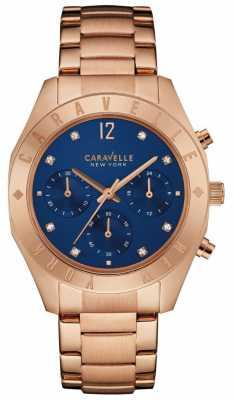 Caravelle New York Ladies Boyfriend Chronograph Watch 44L190