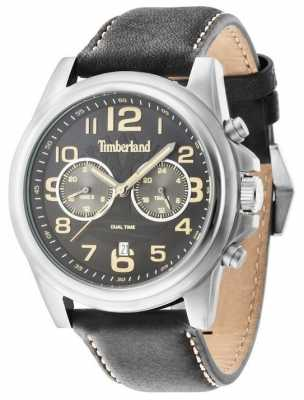 Timberland Gents Pickett Black Leather Strap Watch 14518JS/02A