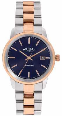Rotary Womens Avenger Two Tone Bracelet Blue Dial LB02737/05