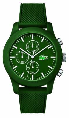 Lacoste Mens 12.12 Chrono Green Rubber Strap Green dial 2010822