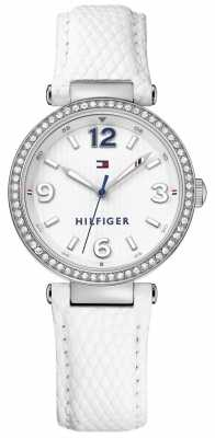 Tommy Hilfiger Womens Lynn White Leather Strap White Dial 1781586