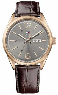 Tommy Hilfiger Mens Charlie Brown Leather Strap 1791058