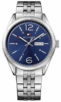 Tommy Hilfiger Mens Charlie Stainless Steel Blue Dial 1791061