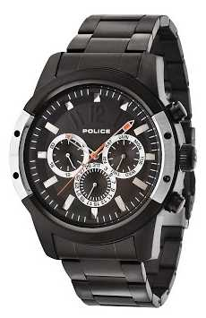 Police Mens Scrambler Black IP Chrono 14528JSBS/02M