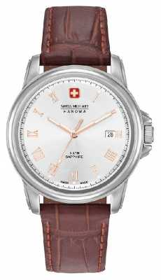 Swiss Military Hanowa Mens Swiss Corporal Brown Leather Strap 6-4259.04.001.05