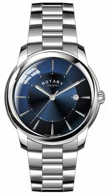 Rotary Mens Stainless Steel Bracelet Blue Dial GB02770/05