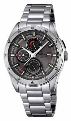 Festina Mens Stainless Steel Multifunction Dial F16876/3