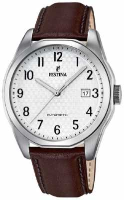 Festina Mens Automatic Brown Leather Strap F16885/1