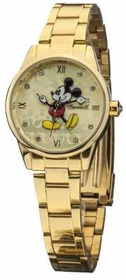 Disney By Ingersoll Womens Classic Gold PVD Plated Bracelet DIN005GDGD