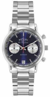 Rotary Mens Avenger Stainless Steel Blue Dial GB90130/05