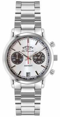 Rotary Mens Avenger Stainless Steel Silver Dial GB90130/06