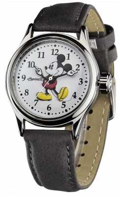 Disney By Ingersoll Womens Brown Leather Strap White Dial 25570