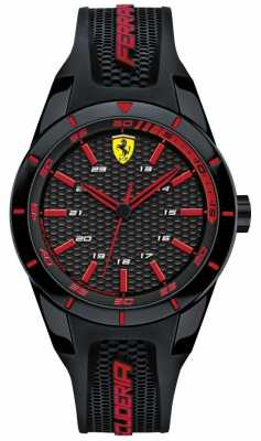 Scuderia Ferrari Unisex Red Rev Black Rubber Strap 0840004