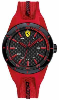 Scuderia Ferrari Unisex Red Rev Red Rubber Strap 0840005