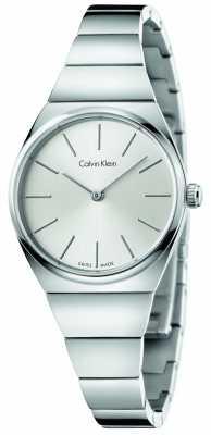 Calvin Klein Womens Supreme Stainless Steel Silver Dial K6C23146